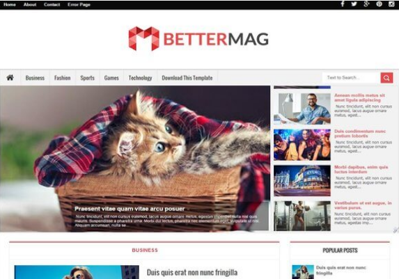 Better Mag-Free Blogger Template