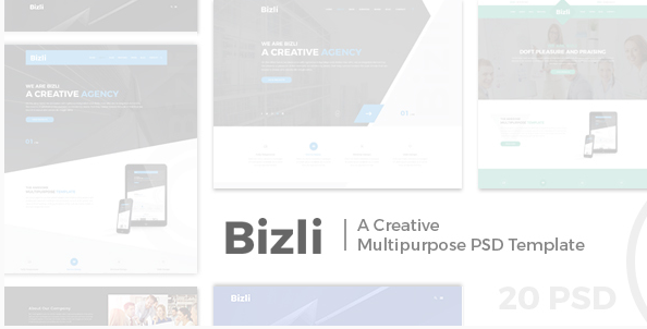 Bizli - Creative Multipurpose PSD Template
