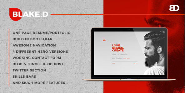 BlakeD - Portfolio & Resume Template