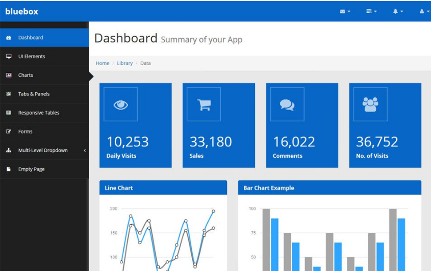 Bluebox Free Bootstrap Admin Template