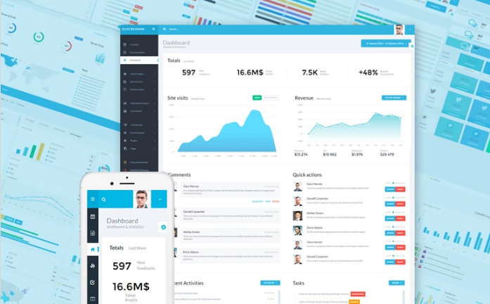 Bluefire Admin Panel Templates