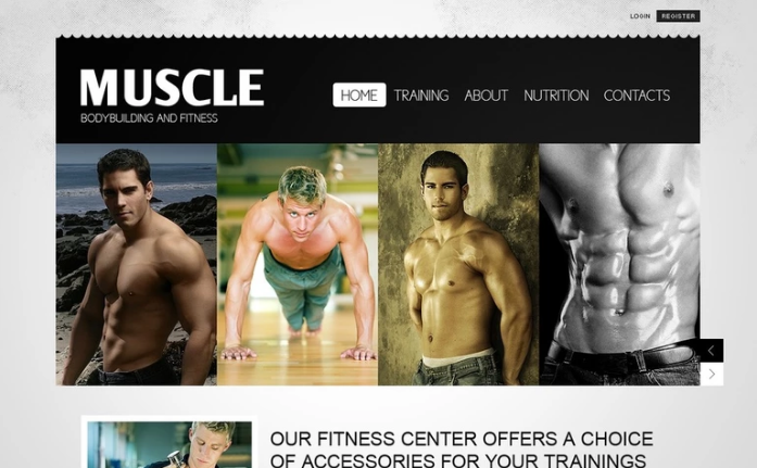 Bodybuilding PSD Template