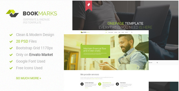 Best Onepage PSD Design Templates