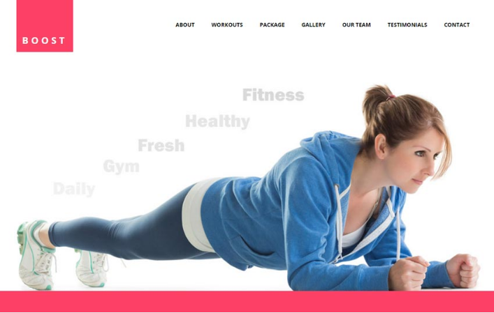Boost Best Fitness Gym HTML5 Website Template