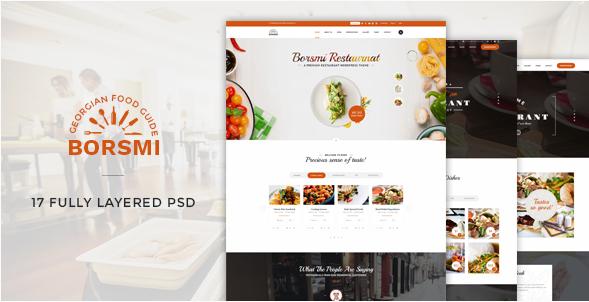 Borsmi - Restaurant PSD Template