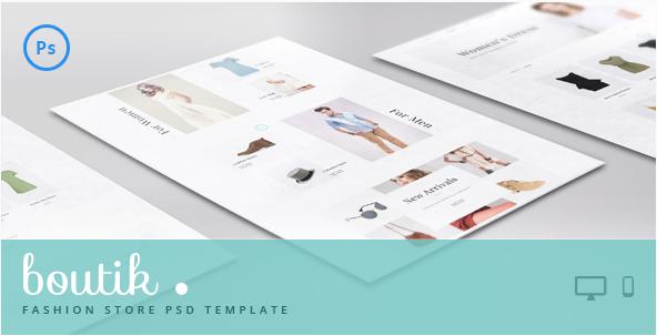 Boutik - Fashion Store PSD Template