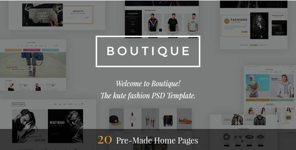 Boutique - Kute Fashion PSD Template