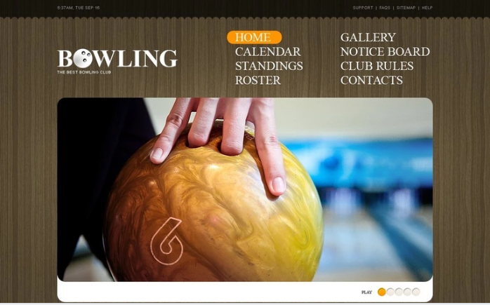 Bowling PSD Template