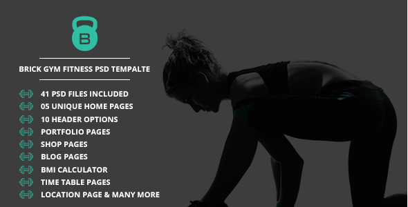 Brick Fitness PSD Template