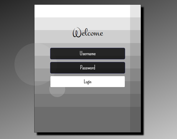 Bubble animated Login Form