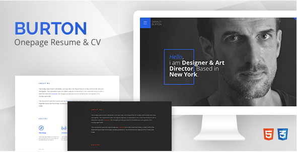Burton – Resume Website Templates