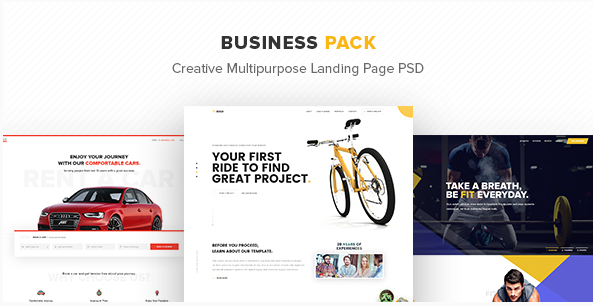 Business Pack – Creative Multipurpose Landing Page PSD