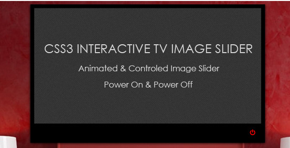 CSS3 Interactive TV Image Slider