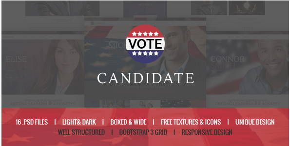Candidate - Political PSD Template