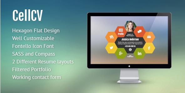 CellCV - Personal Portfolio & Resume Site