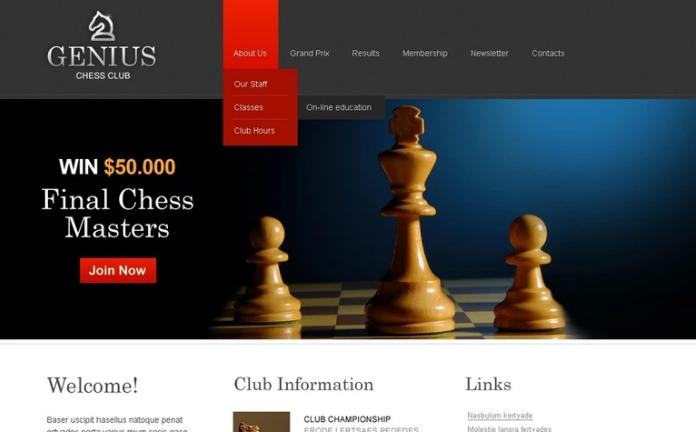 Chess PSD Template