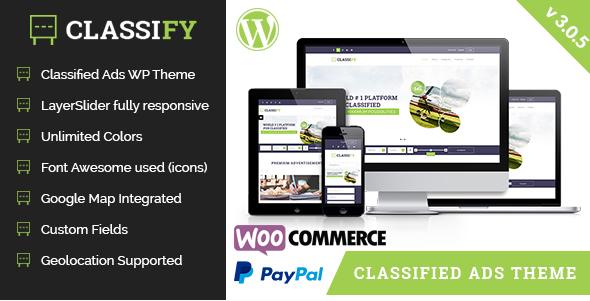Classify - Classified Ads WordPress Theme