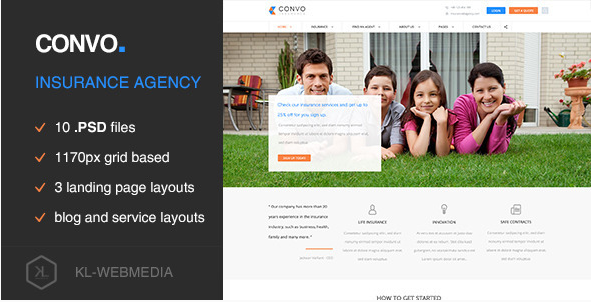 Convo - Insurance Agency PSD Template
