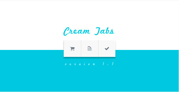 Cream Tabs | jQuery Plugin
