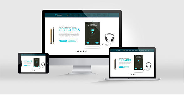 CrtApps- Landing Page-PSD Template