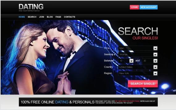 Best Dating PSD Design Templates