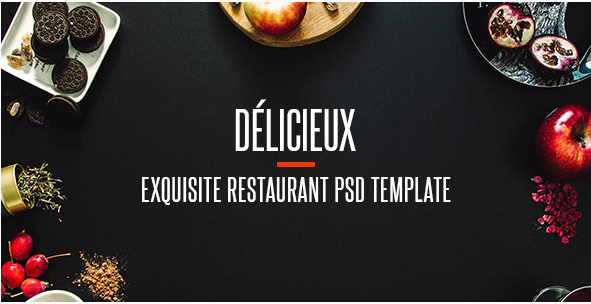 Delicieux - Exquisite Restaurant PSD Template