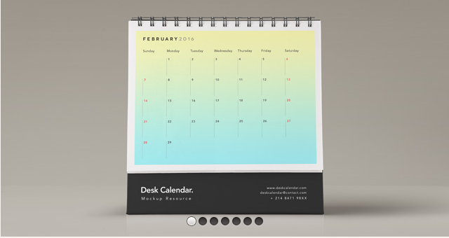 Desk Psd Calendar Mockup Vol2