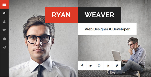 Divergent - Personal Vcard Resume HTML Template