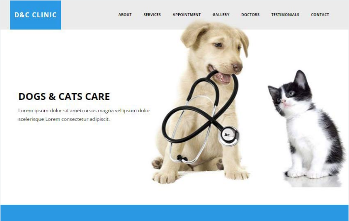 Dogs and Cats Clinic HTML5 Bootstrap Web Template
