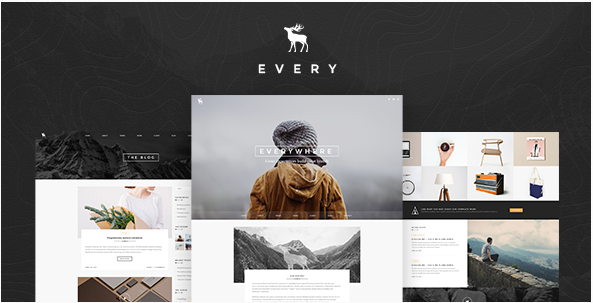EVERY - Creative Onepage PSD Template