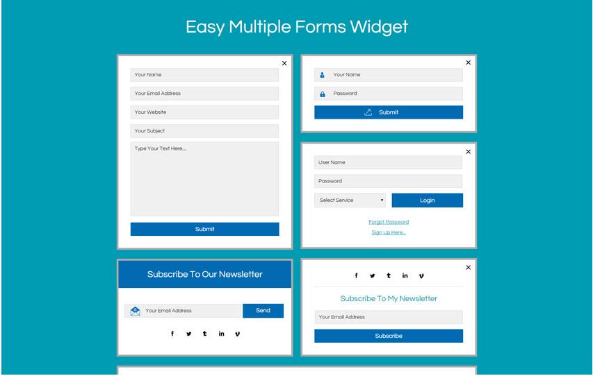 Easy Multiple Forms Widget Flat Responsive Widget Template