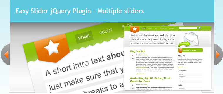 Easy Slider 1.7 – Numeric Navigation jQuery Slider