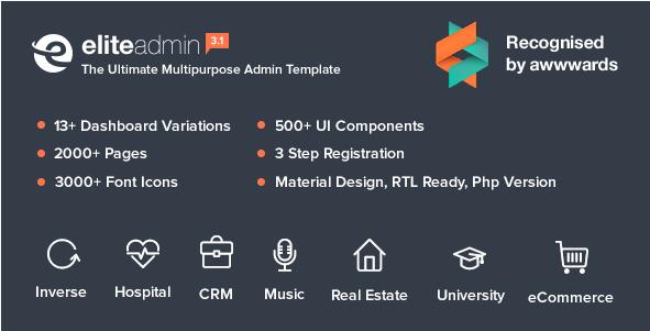 Elite Admin - The Ultimate Multipurpose Admin Template
