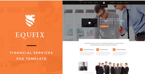 Equfix - Financial Services PSD Template