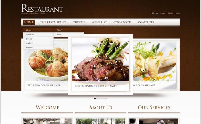 European Restaurant PSD Template