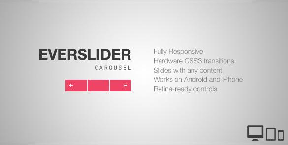 Everslider - Responsive jQuery Carousel Plugin