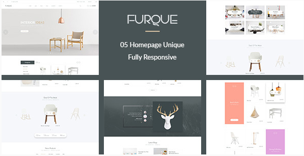 FURQUE - Creative Multiconcept Furniture Store PSD Template