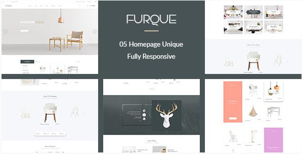 FURQUE - Creative Multiconcept Furniture Store PSD Template