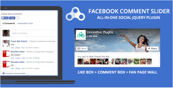 Facebook Comment Slider - jQuery Social FB Plugin