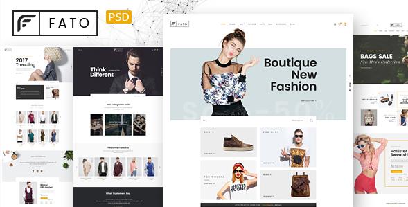 Fato - Fashion Ecommerce PSD Template