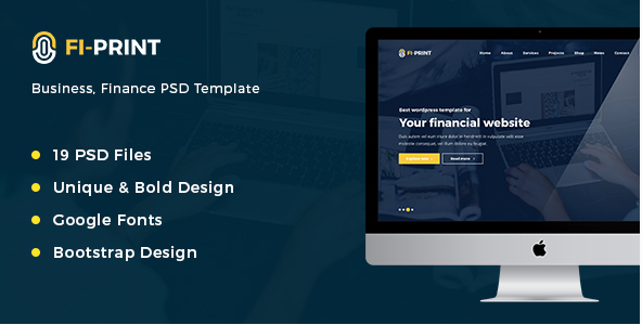 Fi-Print – Business, Finance PSD Template