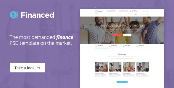 Financed - Finance PSD Template