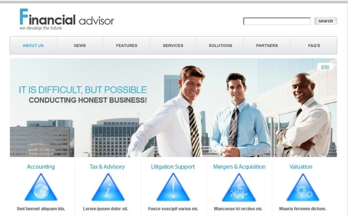 Financial PSD Design Templates