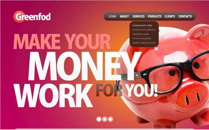 Best Financial PSD Design Templates