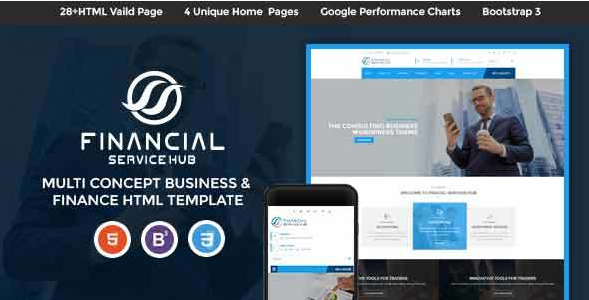 Financial Services Hub Business Corporate HTML Theme