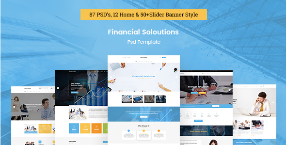Financial Solutions - Financial & Business PSD Template