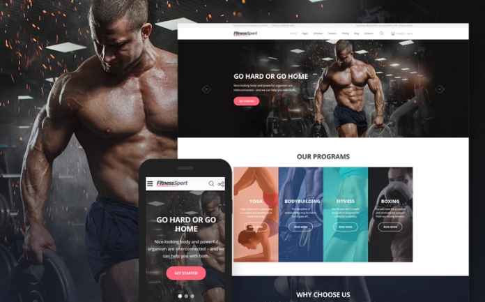 FitnessSport Website Template