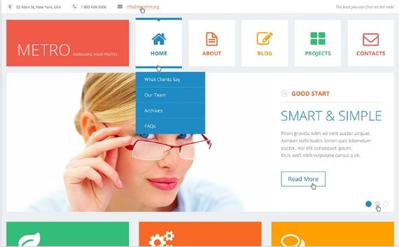 Flat Consulting WordPress Theme