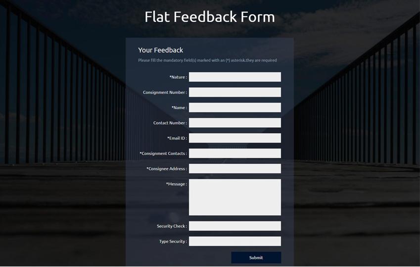 Flat Feedback Form Responsive Widget Template