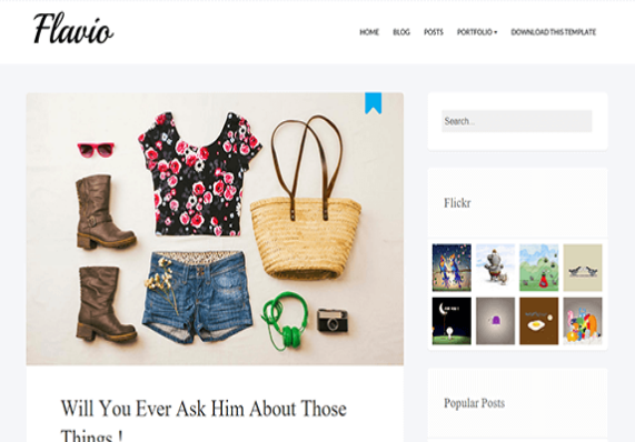 Flavio Simple-Free Blogger Template